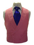 Plain Linen Double Breasted Waistcoat (Pink)