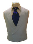 Plain Linen Double Breasted Waistcoat (Baby Blue)