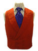 Plain Linen Double Breasted Waistcoat (Orange)