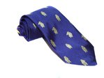 Hand-Made Woven Silk Tie (Hear No Evil, See No Evil, Speak No Evil Monkey)