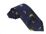 Hand-Made Woven Silk Tie (Moon and Stars)
