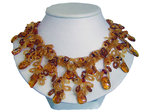 Dangling Amber Necklace (Loose Fit)