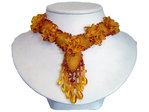 Dangling Floral Amber Necklace