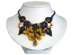 Dark Leaf Style Amber Necklace Design