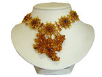 Amber Necklace with Centrepiece Design