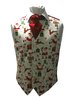 Christmas Themed Cotton Single Breasted Waistcoat
