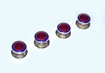 Round Red and Blue Enamel Studs (Sterling Silver)