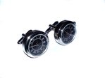 Japanese Movement Round Latin Quartz Watch Cufflinks