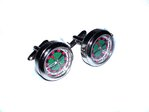 Roulette Quartz Watch Cufflinks (Rhodium Plated)