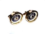 """Time is Money"" Gilt Quartz Watch Cufflinks"