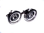 """Time is Money"" Rhodium Plated Quartz Watch Cufflinks"