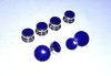 Round Lapis Stud Set (Sterling Silver)