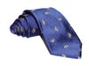 Hand-Made Woven Silk Tie (Wasp, Blue)