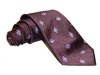 Hand-Made Woven Silk Tie (Wasp, Burgundy)
