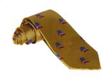 Hand-Made Woven Silk Tie (Duck Head, Orange)