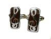 Rectangle Treble Clef Music Cufflinks (Sterling Silver)