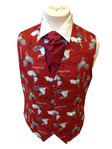 Single Breasted Cotton Rooster Waistcoat